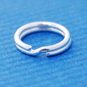 Split Ring (10mm) | Silver Base Metal