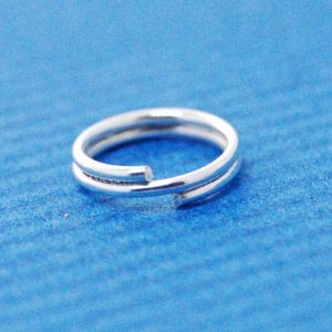 Split Ring (8mm) | Silver Base Metal