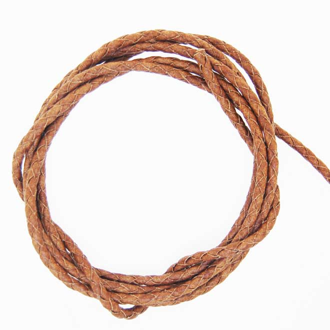 Leather Bolar 3mm (per meter)   Coloured