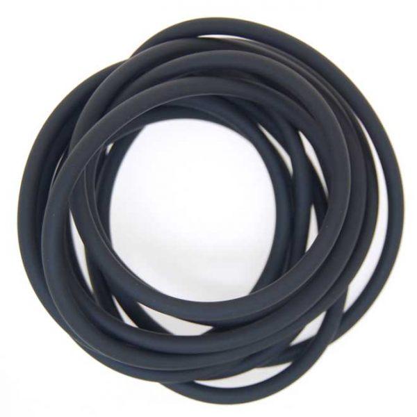 Neoprene Cord Hollow (4mm)   Per Metre