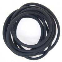 Neoprene Cord Velvet Hollow (2mm) | Per Metre