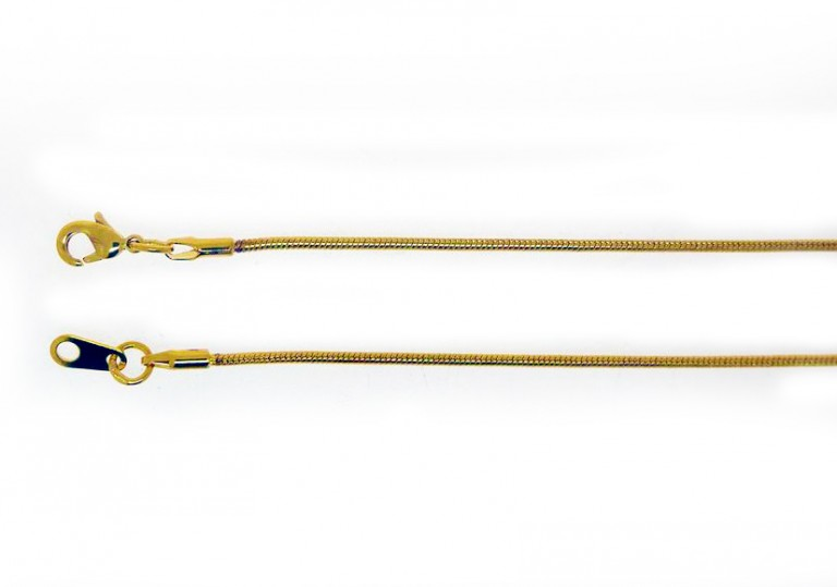 Snake Chain Gold Plate 80cm