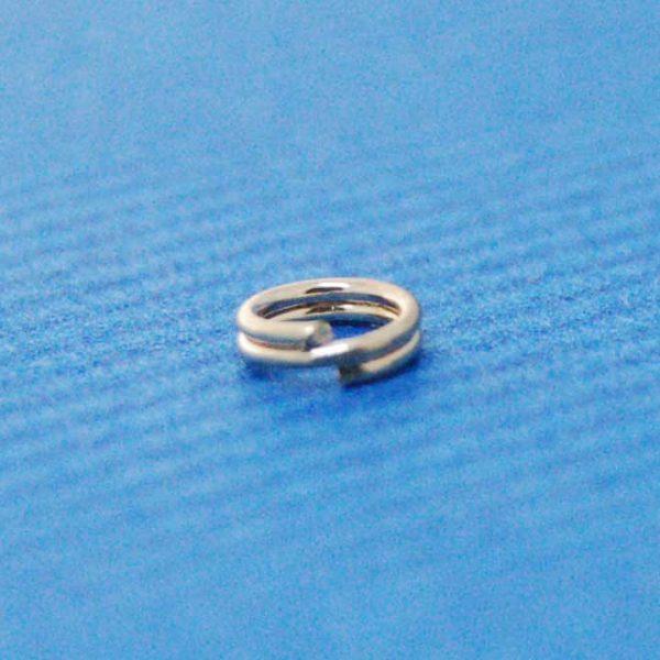 Split Ring (5mm)   Silver Base Metal