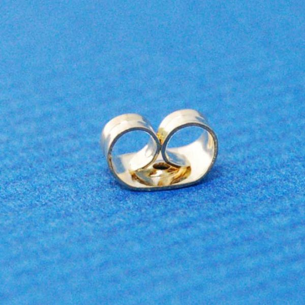 Butterfly earring back | gilt base metal