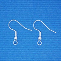 Earwire with ball and spring | silver