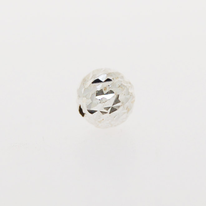Spacer Bead Plain Round (8mm) | Sterling Silver