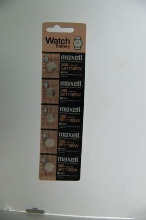 Maxell Micro Silver Oxide Batteries SR1116SW