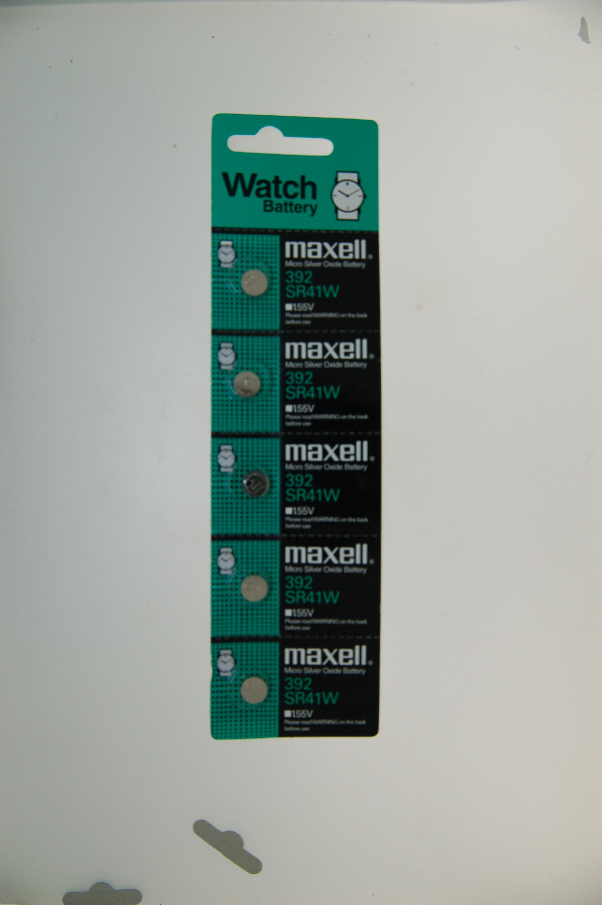 Maxell Micro Silver Oxide Battery SR41W