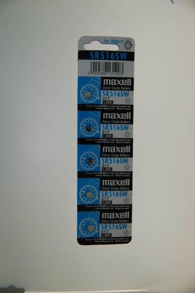 Maxell Silver Oxide Battery SR516SW