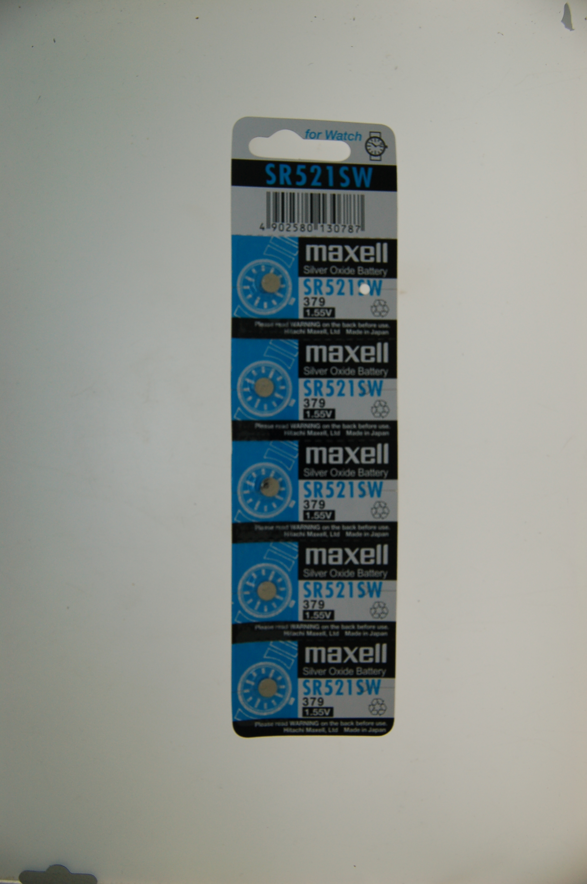 Maxell Silver Oxide Battery SR521SW