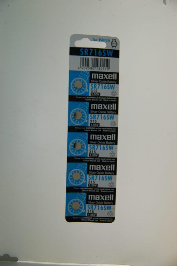 Maxell Silver Oxide Battery SR716SW