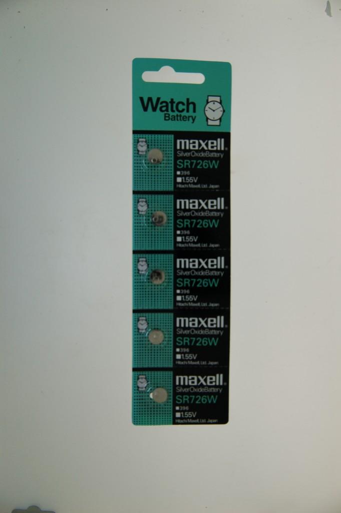 Maxell Silver Oxide Battery SR726W