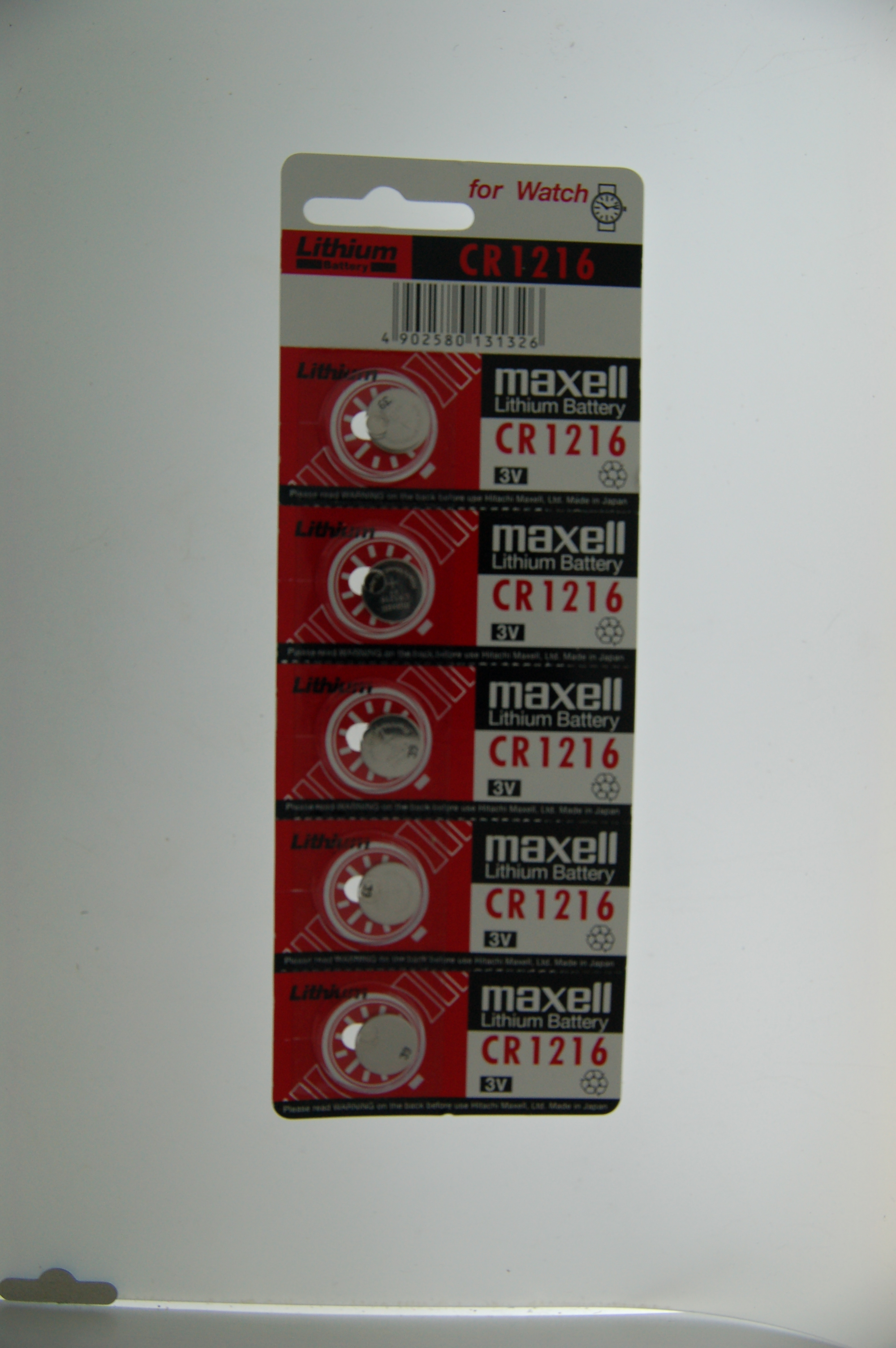 Maxell Lithium Battery CR1216