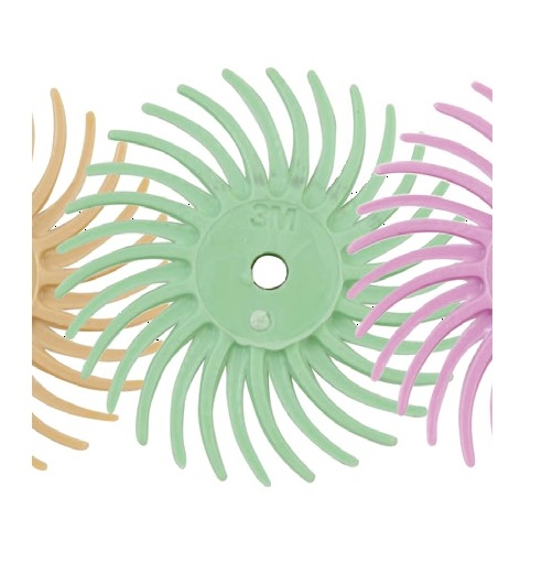3M RADIAL BRISTLE DISC (LIGHT GREEN)