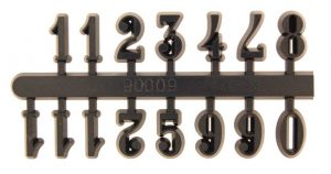 10mm Black Arabic Numerals