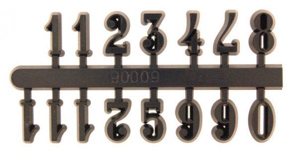 15mm Black Arabic Numerals