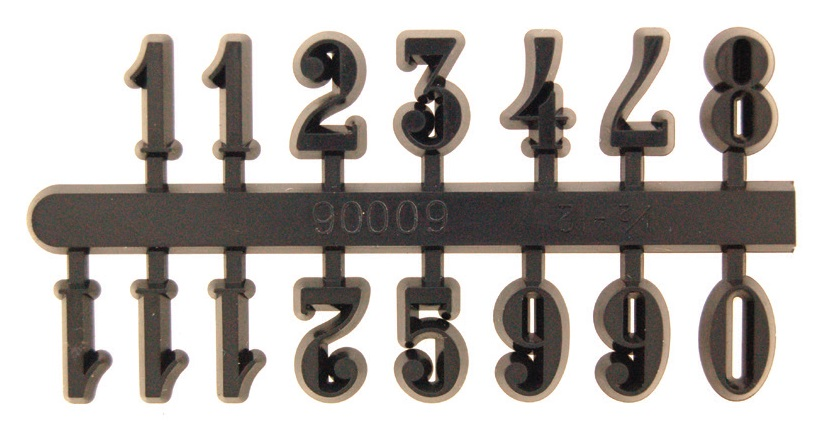 15mm Black Arabic Numerals