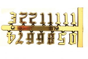 """15mm Old English Numerals 5/8"""""""