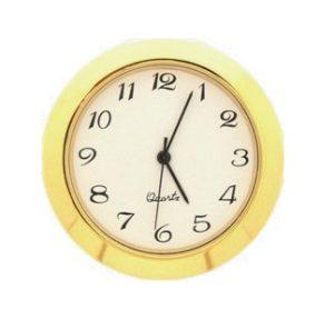 36mm Clock Insert WHITE ARABIC