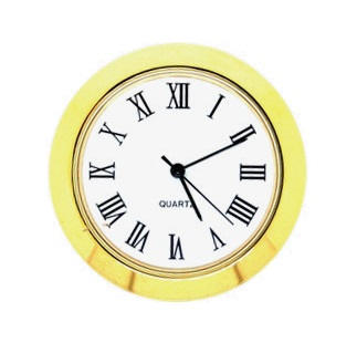 36mm Clock Insert WHITE ROMAN