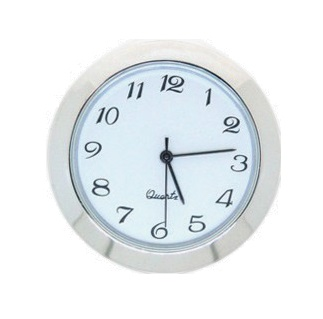 36mm Clock Insert WHITE CHROME