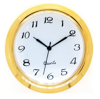50mm Clock Insert WHITE ARABIC
