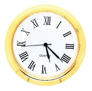 50mm Clock Insert WHITE ROMAN