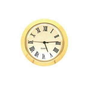 50mm Clock Insert Gold Roman