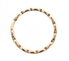 25mm Fancy Split Ring Gilt Per 100
