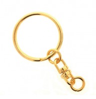 Key ring Gilt with Swivel per 100