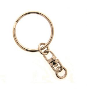 Nickel Key Ring Swivel Per 100