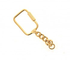 Key Ring Gilt Twist open per 100
