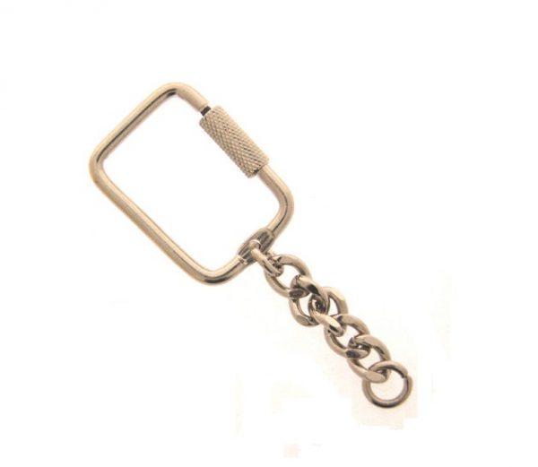 Key Ring Nickel Twist open per 100