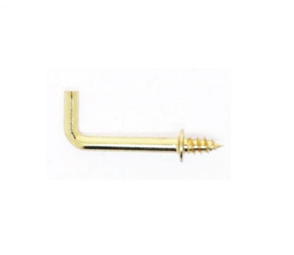 Square Hook 22x18x2mm Gold Plate per 100