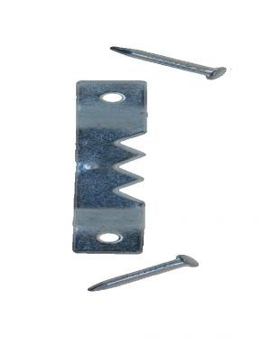 3 Saw tooth Hanger 41x17mmwith Tacks per 100