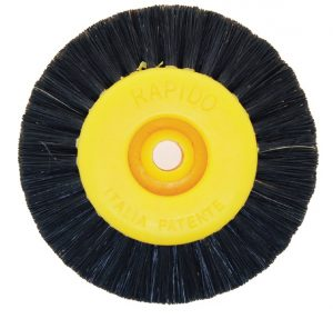 POLISHING Wheel Black Bristle Yellow Hub 4 ROW  67mm