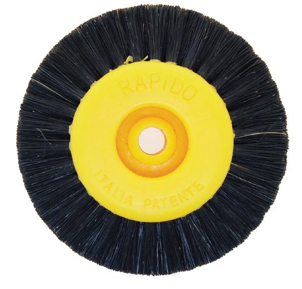 POLISHING Wheel Black Bristle Yellow Hub 4 ROW  67mm