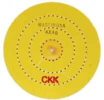 "POLISHING Wheel Stitched Yellow treated Buff wheel 4""x40 Ply"
