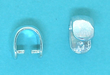 Bail with 2 Studs Sterling Silver 5x8mm