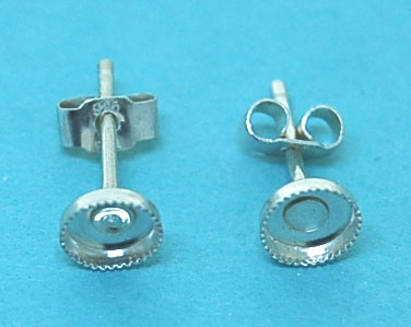 Sterling Silver Cab Setting Earstud 4mm