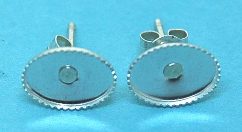 8mm Pad Sterling Silver Ear Studs