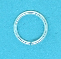 8mm Sterling Silver Jump Ring | Open 1mm Wire