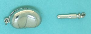 Clasp Sterling Silver Big Bean Shape