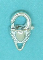 12mm Fancy Lobster Clasp Sterling Silver