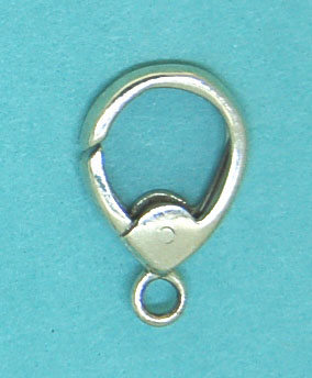Teardrop Shape Clasp 9x12mm Sterling Silver