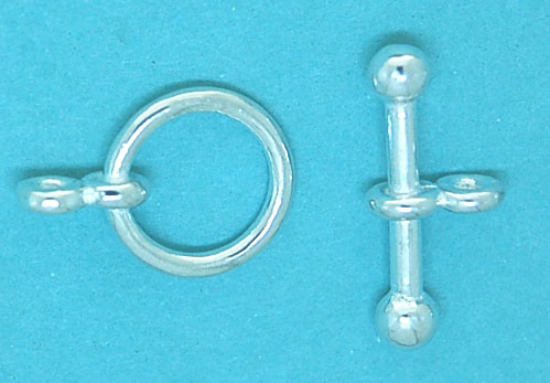 10mm Round Sterling Silver Toggle with 16mm
