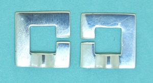 C- Clasp Square Sterling Silver 14mm