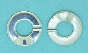 C-Clasp Round Sterling Silver 14mm