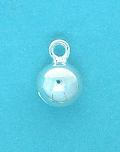Charm Bell Sterling Silver 7mm Ball with Jumpring
