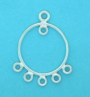 Earring Part 18mm Round Loop